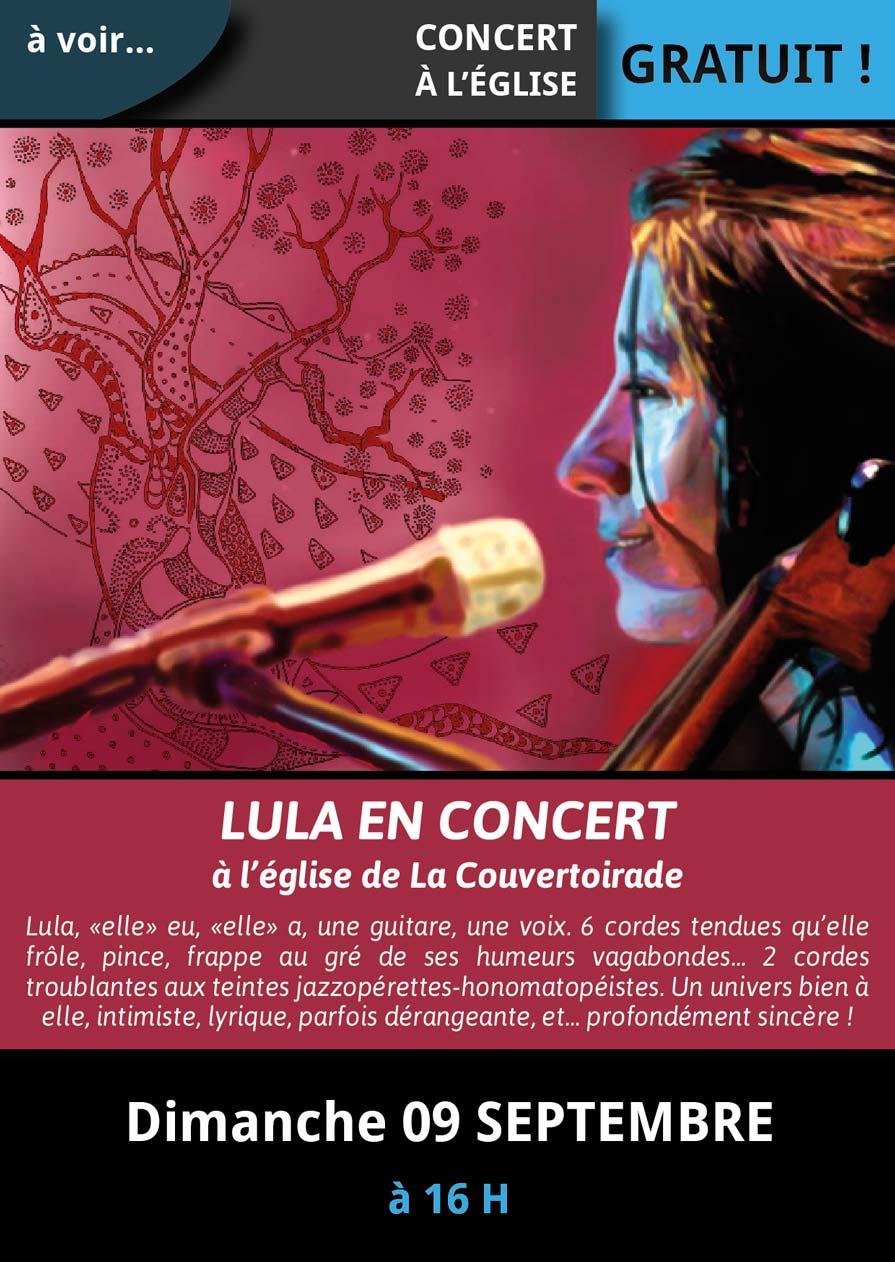 Lula en concert à l'église